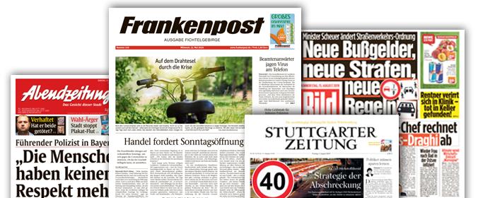 Wochenzeitungen, Tageszeitungen und Regionalzeitungen